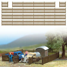 Busch 6007 - 120cm Brown Plastic Picket Fencing - HO/00 Scale - 1st Class Post