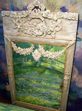 Antique French mirror Trumeau mirror  louis XVI mirror overmantle rose swags