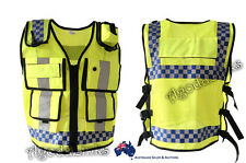 Hi Visibility Reflective Safety Vest Jacket Construction Traffic Police Velcro