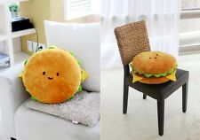 Hamburger Cushion Food Pillow 40cm Toy Doll Room Bedding Car Interior Cotton
