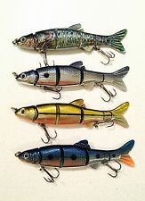 "SPECIAL: 4 Piece ""Killer Crank""  Jointed Fishing Lure Pack. 15cm."