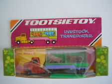 SUPER RARE NEW IN PACKAGE VINTAGE TOOTSIETOY LIVESTOCK TRANSPORTER WITH ANIMALS