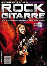 ROCK GITARRE, Peter Bursch, von null an spielend lernen, E-Gitarrenschule+CD+DVD