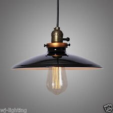 New Black Metal Modern Lampshade Vintage Ceiling Lamp Chandelier Pendant Light