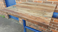 NEW INDUSTRIAL RECLAIMED RUSTIC TIMBER CAFE BISTRO RESTAURANT TABLE TOP