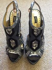 NEW RRP$299 Mimco Heels Genuine Leather Black Size 39 (8?) Platform