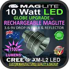 MAGLITE LED UPGRADE CREE 10W BULB GLOBE for RECHARGEABLE TORCH FLASHLIGHT 1100lm