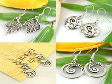 new 4Pair Style Lots Charm Fashion Jewellery Silver Mix Stud Earrings Wholesale