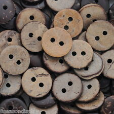 """200PCs Brown Coconut Shell 2 Holes Sewing Buttons Scrapbooking 13mm(1/2"""")Dia."""
