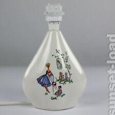 50er Jahre Keramik Leuchte Tisch Lese Lampe Mütter Motive o. Schirm vintage alt