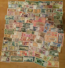 100 DIFFERENT BANKNOTES FROM MANY DIFFERENT COUNTRIES 100 UNC NOTES