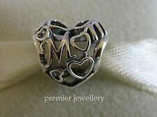 Genuine Authentic Pandora Sterling Silver Motherly Love Open Work Charm 791519