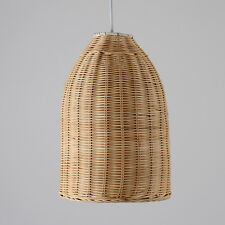 Contemporary Wicker Basket Style Ceiling Pendant Light Shade Lounge Lighting
