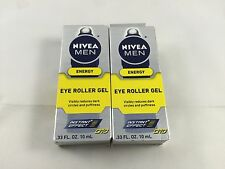 Nivea For Men Energy Q10 EYE ROLLER GEL - Two 0.33oz Tubes - FREE SHIPPING!