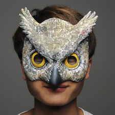 Scary Half Face Owl Halloween Latex Masks Masquerade Party Costume Cosplay Props