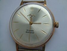 Vintage LUCH ULTRA SLIM 2209  Men's USSR Wristwatch 23 Jewels