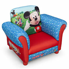 NEW DELTA CHILDREN DISNEY MICKEY MOUSE UPHOLSTERED CHAIR KIDS PADDED ARMCHAIR