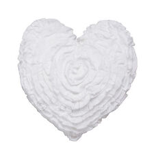 Hearts White Heart Shaped Filled Cushion by Logan and Mason Ultima