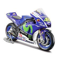 Maisto 1:18 YAMAHA 2015 YZR-M1 MotoGP Valentino Rossi Motorcycle Bike Model
