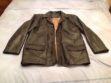 """Mens Remus Uomo black leather jacket size 40"""" chest very heavy"""