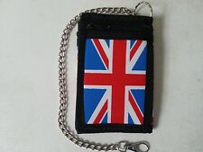 Wallet ID Card, Credit Card Holder Trifold Wallet With Security Chain Union Jack