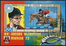 Equatorial Guinea 1972 Olympic Games, Horses Cto Used M/S #A92628