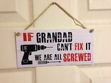 Friendship Sign Best Friend Gift Novelty Shabby Chic Plaque - Grandad Fix it