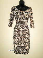 """LADIES STUNNING LEOPARD PENCIL DRESS """"KITTY"""" SIZE 8-10 COCKTAIL EVENING DAY"""