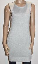 JEANSWEST Brand Silver Knitted Bodycon Sweater Dress Size M BNWT #sv26