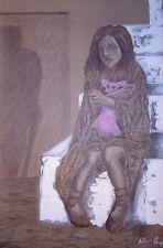 """orig. acryl....bild """"wounded child"""", 120 x 80 cm / leinwand"""