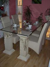 Esstisch Esstische Steintisch Glas Tisch Steinmöbel Fossilmöbel Esszimmertisch