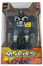 New M.A.R.S. Motorized Attack Robo Squad Electronic Walking Robot Dark Blue 17cm
