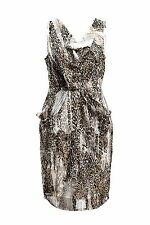 BNWT RRP$139 size 8 Events Mist Leopard Dress great for multi occasions