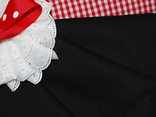 Black Fine Cotton Voile Fabric - Smocking, Embroidery etc.140cm x per half-metre