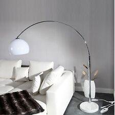 BIG BOW BOGENLAMPE WEIß   Design Stehlampe, Dimmer, dimmbare Wohnzimmerlampe