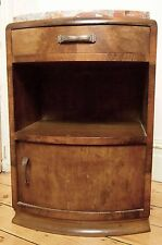 French bedside cabinet pot cupboard night stand marble top old antique vintage