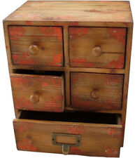 Small Vintage Antique Shabby Chic Style 5 Drawer Storage Unit Chest Cupboard