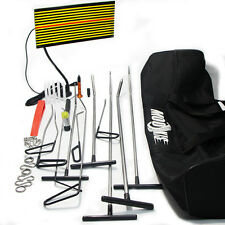 PDR Paintless Puller Rods Tool Kit Dent Repair Tap Hammer Removal LED Line Board