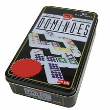 DOMINOES DOUBLE NINE SET Colour Dots Strategic Game - Quality Gift