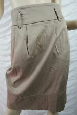 BASQUE beige cotton blend high waisted balloon skirt size 8 EUC