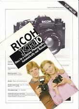 Ricoh original brochure & specification for  KR-10 SLR camera, 1980s.