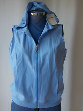 NWT Womens Sleeveless 100% COTTON Hoodie Top 12 Size 14 Blouse Shirt Ladies NEW
