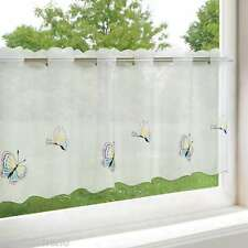 Scheibengardine 45 x 115 cm transparent mit Schmetterlingen Bistro Kurzgardine