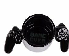 Big Mouth Toys GAME OVER Mug - GAMER Game Controller Handles CERAMIC - BLACK