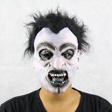 Scary White Vampire Mask Adult Latex Full Head Mask Halloween Props