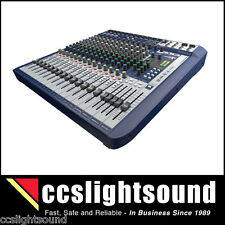 SOUNDCRAFT SIGNATURE 16 COMPACT ANALOGUE MIXING CONSOLE WITH EFFECTS PROCESSOR
