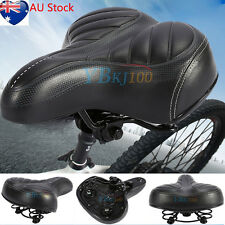 Unisex Wide Big Bum Bike Bicycle Cycling Sprung Comfort Soft Saddle Seat Outdoor