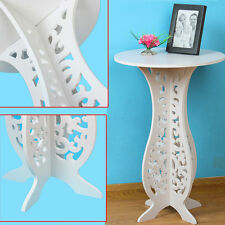 Modern Design White Round Coffee Tea Table Side End Table Rack Home Furniture