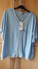PER UNA  NEW  WITH TAGS BLUE SOFT STRETCH TOP  TOP SIZE 16
