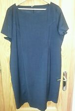 DRESS.  WOOL BLEND. BLACK GREY.   SIZE 24. STRAIGHT PENCIL. KNEE LENGTH